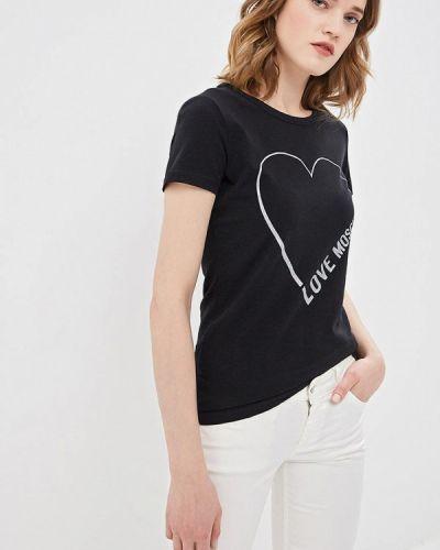 Черная футболка 2019 Love Moschino