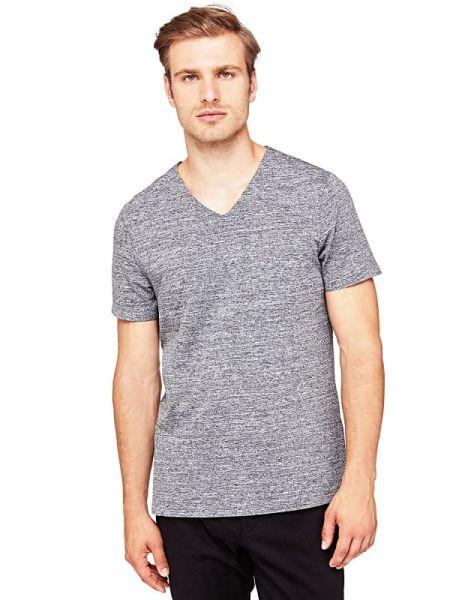 Koszula krótkie z krótkim rękawem z dekoltem w szpic Guess