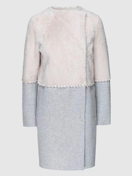 Серое кашемировое пальто Yves Salomon