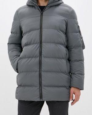 Серая теплая утепленная куртка свободного кроя Befree