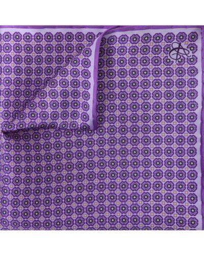 Фиолетовый платок нагрудный Canali