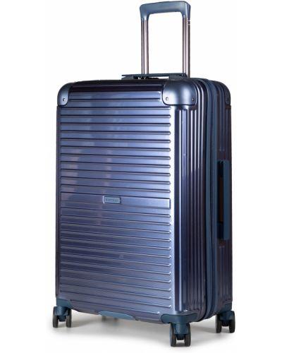 Niebieska walizka średnia Puccini