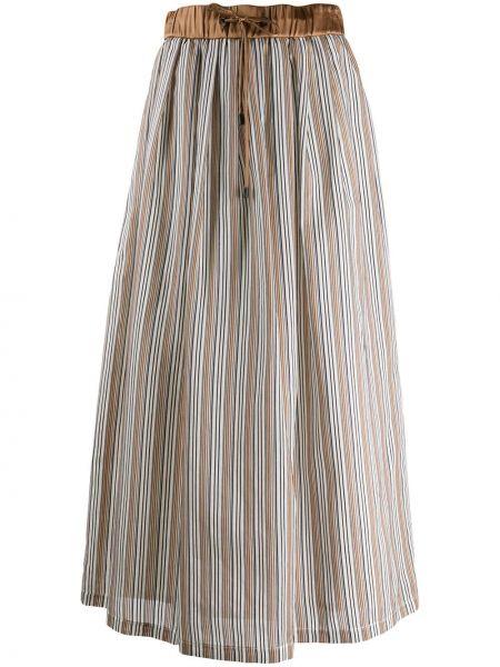 Spódnica plisowana na gumce w paski Peserico