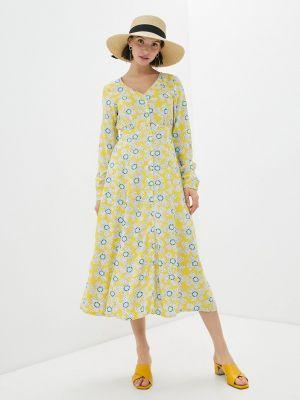 Прямое желтое платье А-силуэта Compania Fantastica