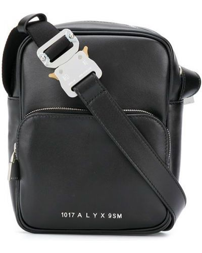 Черная кожаная сумка на плечо на молнии 1017 Alyx 9sm