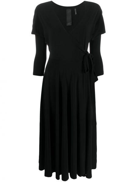 Платье макси с V-образным вырезом с мехом Norma Kamali