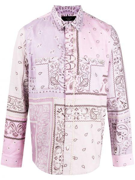 Koszula z długim rękawem klasyczna fioletowy Amiri