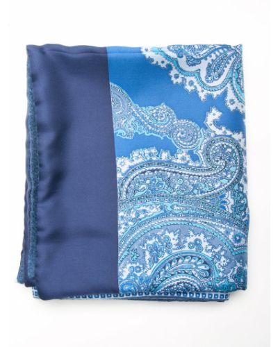 Голубой шарф итальянский Gallieni
