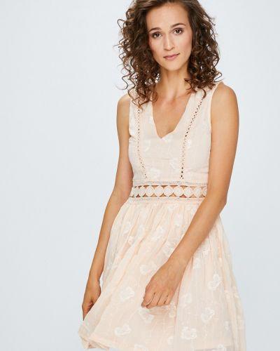 Платье мини с вышивкой расклешенное Answear