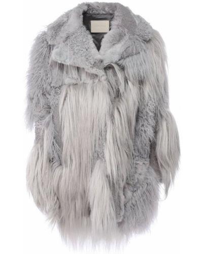 Пальто из овчины с мехом Drome