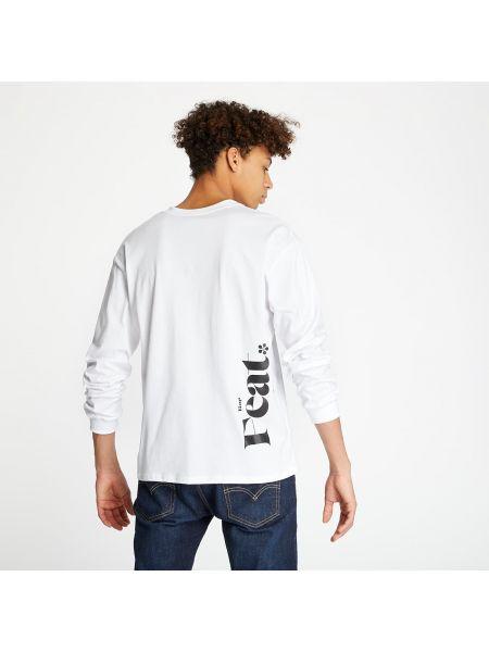 Markowe biały koszulka z długim rękawem Footshop