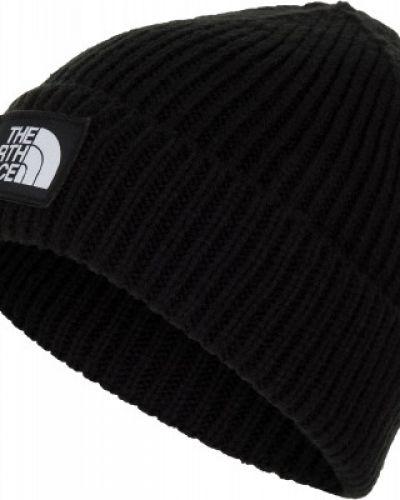 Теплая акриловая черная шапка бини The North Face