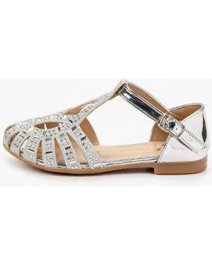 Лаковые кожаные серебряные туфли Mili