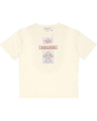 Bawełna koszula Gucci Kids