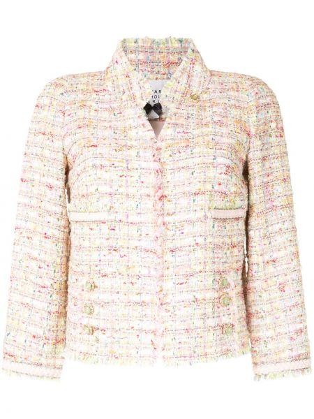 Желтый пиджак твидовый с карманами Edward Achour Paris