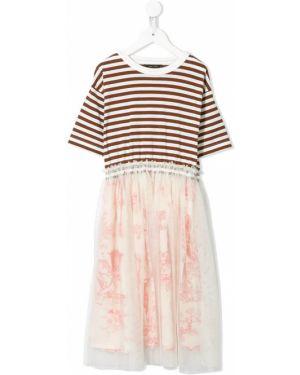 Платье с рукавами из фатина с вырезом круглое с декоративной отделкой Go To Hollywood