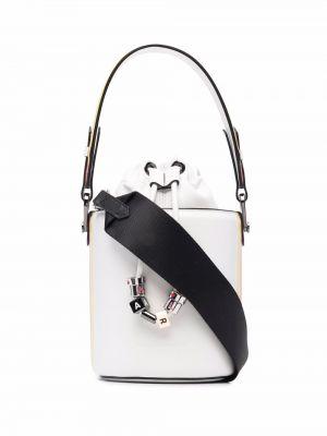 Czapka skórzana - biały Karl Lagerfeld