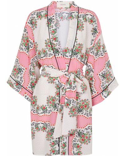 Różowa kurtka elegancka ocieplana Rodarte