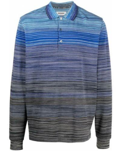 Niebieska koszulka Missoni