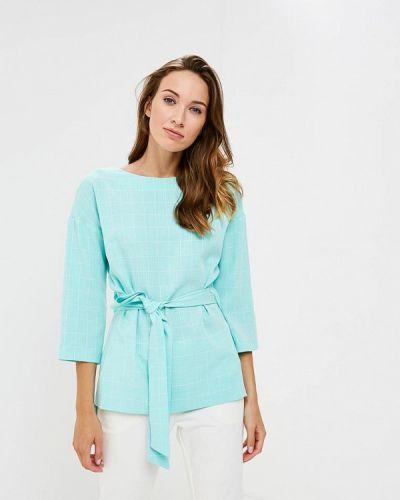 Блузка с длинным рукавом бирюзовая Vittoria Vicci