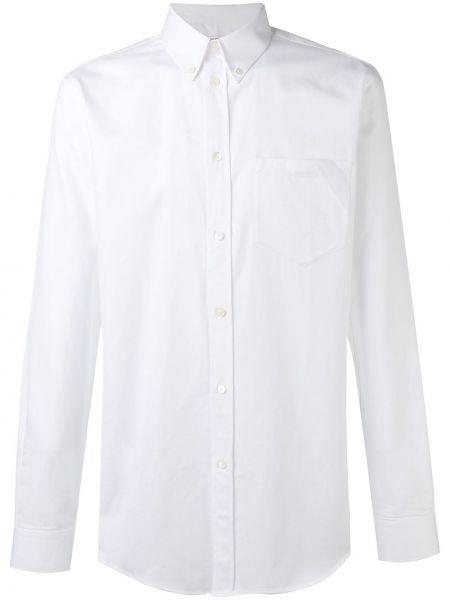 Biały bawełna z rękawami klasyczna koszula z kołnierzem Givenchy