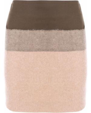 Шерстяная прямая юбка мини на молнии Veronique Branquinho