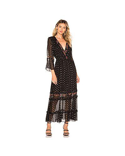 Платье макси в горошек с вышивкой Tularosa