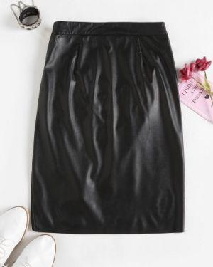 Кожаная юбка асимметричная пачка Zaful