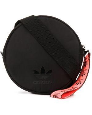 Поясная сумка черная с логотипом Adidas