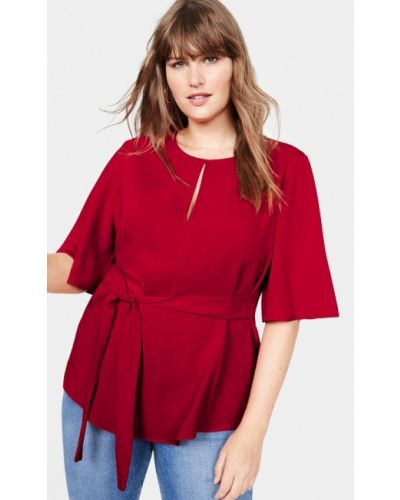 Блузка с коротким рукавом красная Violeta By Mango