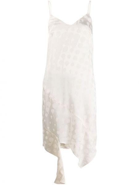 Sukienka wieczorowa chudy z dekoltem w serek Off-white