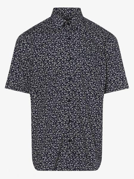 Koszula krótkie z krótkim rękawem niebieski z kwiatowym nadrukiem Paul & Shark