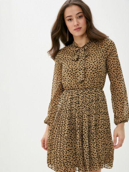 Платье прямое бежевое Defacto