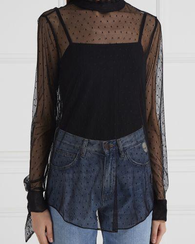 Блузка с длинным рукавом прозрачная в горошек Equipment