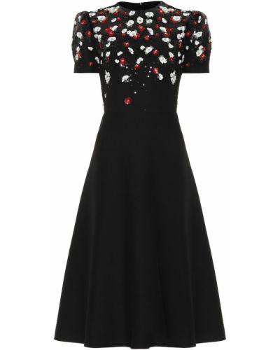 Платье с пайетками с цветочным принтом Valentino