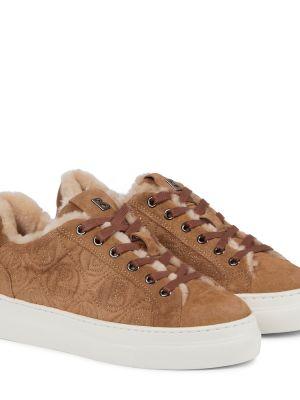 Кожаные кроссовки - коричневые Bogner