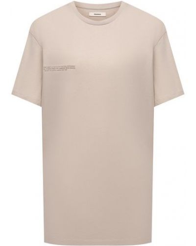Хлопковая футболка - бежевая Pangaia