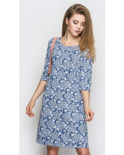 Трикотажное платье - голубое Modniy Oazis