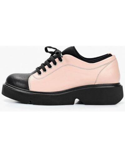 Кожаные ботинки кожаные розовые O`shade