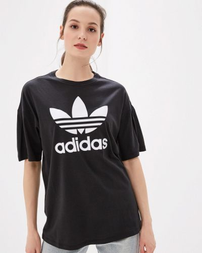 Поло черное Adidas Originals