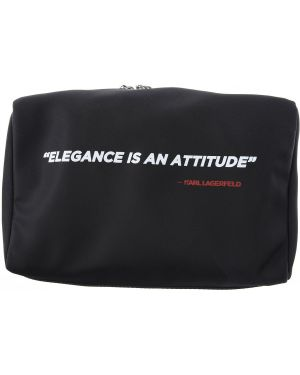 Czarna kosmetyczka skórzana Karl Lagerfeld