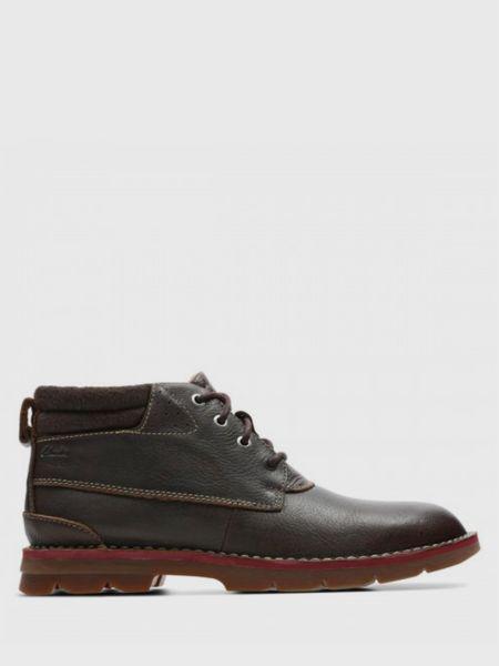 Кожаные ботинки - коричневые Clarks