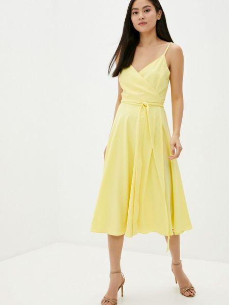 Однобортное желтое платье Toryz