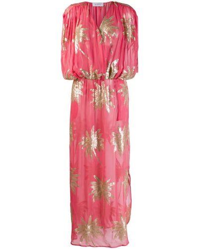 Платье с поясом с пайетками с V-образным вырезом Ailanto