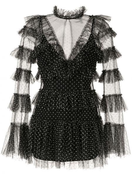 Платье в горошек черное Alice Mccall