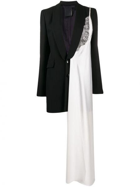 Шерстяной черный пиджак с карманами Seen Users