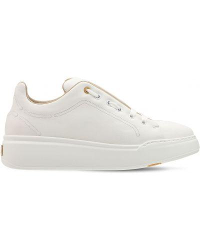 Кожаные кроссовки - белые Max Mara