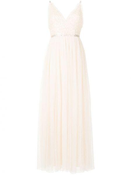 Платье с пайетками - белое Needle & Thread