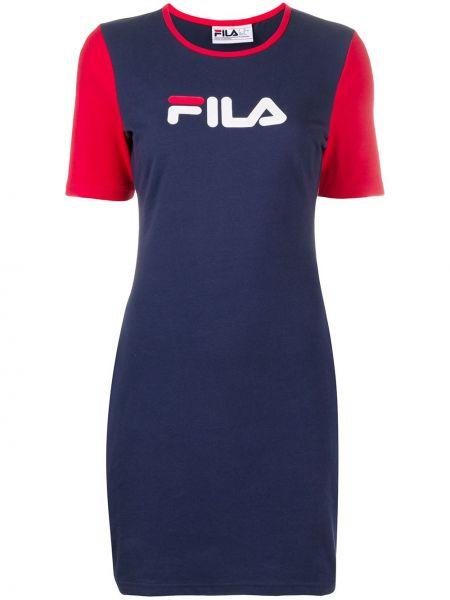 Облегающее синее платье мини с вырезом Fila