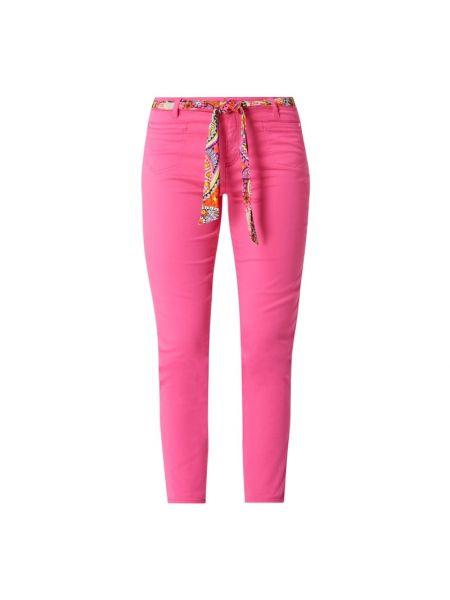 Różowe spodnie bawełniane z wiązaniami Rosner